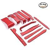 AUTOWN 11tlg Innen-Verkleidung Auto Werkzeuge Reparatur Set Demontage Montage-Keile Zierleistenkeil Cliplöser für Türverkleidung - Ro