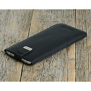OnePlus Hülle Tasche Etui Cover Case Leder personalisiert durch Prägung mit ihrem Namen, Monogramm. Für 5 3T 3 2 One X Plus