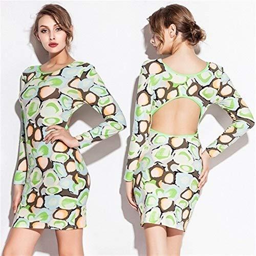 Heißer Großhandel 2019 Spandex Baumwolle Langarm Strand tragen zurück - hohl Enge sexy Multi Gelegenheit Strand vertuschen Kleid (Color : Army Green, Size : L) - Kapuzen-elasthan Vertuschen
