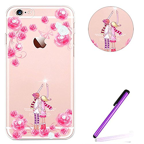 iPhone 6S Plus Bumper Coque,iPhone 6S Plus Fille Coque,iPhone 6S Plus Transparente Coque,Coque Housse Etui pour iPhone 6 Plus / 6S Plus,EMAXELERS iPhone 6S Plus Silicone Case Slim Gel Cover,iPhone 6 P S TPU 16