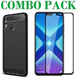 AONIR 5D Tempered Glass & Zebra Back Cover_Combo Pack_ Premium Quality Screen Guard And Soft Case Cover For Huawei Honor 8X
