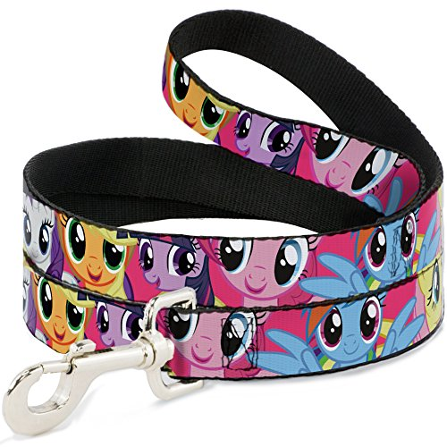 buckle-down-wide-15-pony-close-up-fuchsia-dog-leash-4
