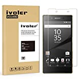 Sony Xperia Z5 Premium Protection écran, iVoler® Film Protection d'écran en Verre Trempé Glass Screen Protector Vitre Tempered pour Sony Xperia Z5 Premium 5.5''- Dureté 9H, Ultra-mince 0.20 mm, 2.5D Bords Arrondis- Anti-rayure, Anti-traces de doigts,Haute-réponse, Haute transparence- Garantie de Remplacement de 18 Mois