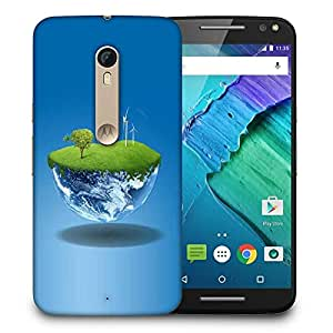 Snoogg Half Earth Designer Protective Phone Back Case Cover For Motorola Moto X Style
