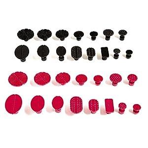 Mookis PDR Paintless Débosselage Réparation, 30PCS Onglets d'Extracteur Paintless Dent Removal Tools (noir et rouge) pas cher – Livraison Express à Domicile