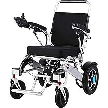 Wheel-hy Silla de Ruedas eléctrica de Aluminio Plegable, para Personas Mayores y discapacitadas