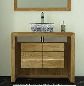 Walk - CA-405A-100-NAT - Meuble de salle de bain groix l100 en teck
