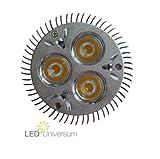 3er Pack LED Spot GU10-6W (3x2W) - High Power LEDs - warmweiss (entspricht 50W Halogen)