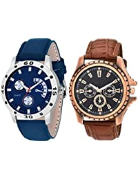 On Time Octus Combo Of 2 Analog Watch For Boys And Mens- OT-205-208