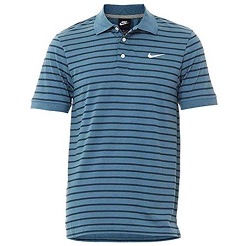 Nike Mens Matchup Stripe Polo Shirt (Riftblue) (Stripe Nike Polo)