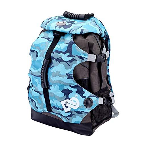 CUTICATE Inline Rollschuh Rucksack, Skateboard Tasche Rollschuhe Schultertasche - Camo