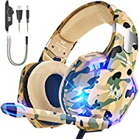 VersionTECH. Gaming headset for PS4 Xbox One PC Headphones with Microphone LED Light…