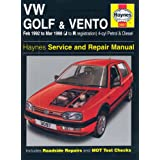 VW Golf and Vento Service and Repair Manual: Petrol and Diesel 1992 to 1998 (Haynes Service and Repair Manuals)