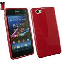 Emartbuy® Sony Xperia Z1 Compact Shiny Gloss Gel Case Hülle Schutzhülle Rot