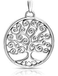 Bling Jewelry Plata Esterlina Epiral Celta Círculo Colgante Árbol de la Vida