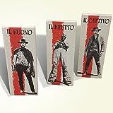 Il Buono, il Brutto, il Cattivo Quadro Canvas a Pannelli Film Western Vintage Stampa su Tela