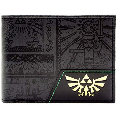Legend of Zelda Hylian Held der Zeit Schwarz Portemonnaie Geldbörse
