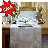 Sander Outlet! Tischläufer Weihnachten LA Neige, 47x150 cm, Farbe 19- Sand/beige – JETZT REDUZIERT