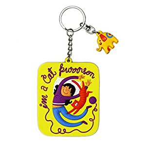 Chumbak PVC Best Cat Keychain