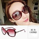 WYL Polarisierte Sonnenbrille weibliche UVschutzgläser runder Gesichtssonnenschutz-Sonnenbrillefluten-Sterngesicht,D,Sonnenbrille