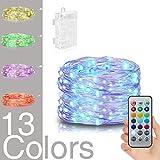Vorally 5M 50LEDs String Light - 13 Farben + 3 Modi + RGB IP44 Wasserdicht + Mit Fernbedienung - Für Zuhause, Outdoor, Garten, Terrasse, Hochzeit und Weihnachtsfeier