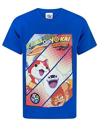 Yo-Kai Watch - Camiseta de manga corta - Manga corta - para niño azul 13-14 Años