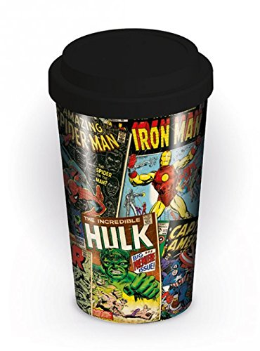 Marvel Mixed Comic Book Covers Retro Travel Coffee Gift Mug Cup Official