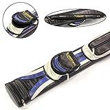 Clearance. Universal negro plata azul doble eje golf-Bag–Maletin para palos de billar (capacidad para 2cañas