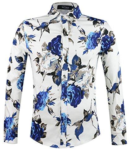 APTRO Herren Freizeit Mercerisierte Baumwolle Mehrfarbig Langarm Shirt #1902 (Jahre Jungs Für 80er Mode)