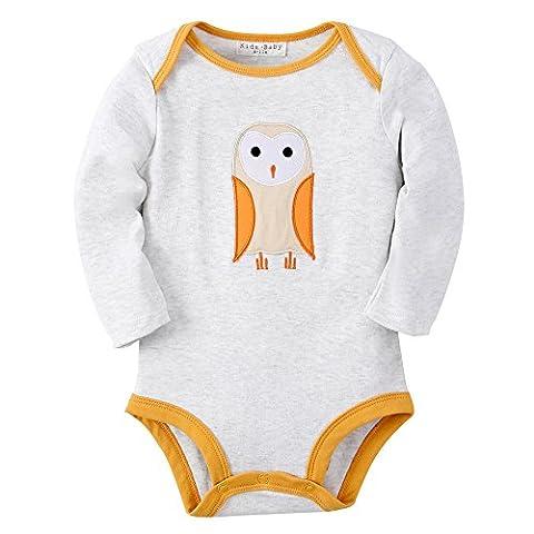 Sanlutoz Baby Jungen Kleidung Baumwoll Neugeborene Säugling Kleider Langen Ärmeln Bodys (0-6 Monate, R04 (Bären-kostüm Für Baby)