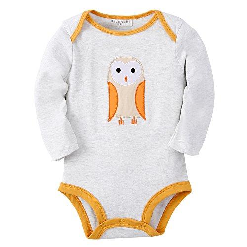 Sanlutoz Baby Jungen Kleidung Baumwoll Neugeborene Säugling Kleider Langen Ärmeln Bodys (0-6 Monate, R04 (Mädchen Kostüme Halloween Baseball)