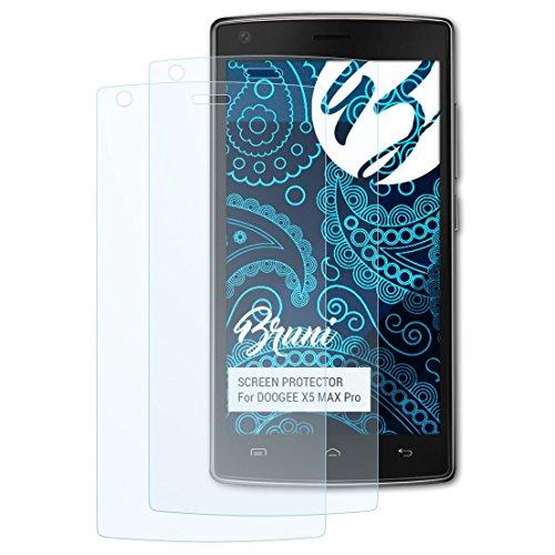 Bruni Schutzfolie für DOOGEE X5 MAX Pro Folie, glasklare Bildschirmschutzfolie (2X)