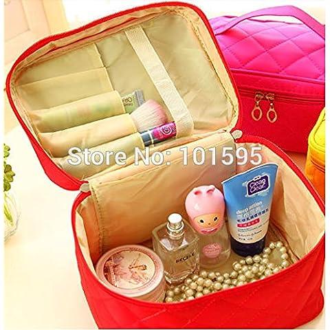 AcuStyle (TM)-Beauty, Custodia per cosmetici, trucchi, motivo a righe, collezione camion, dicono le donne s-Borsa da viaggio Organizer-Borsa