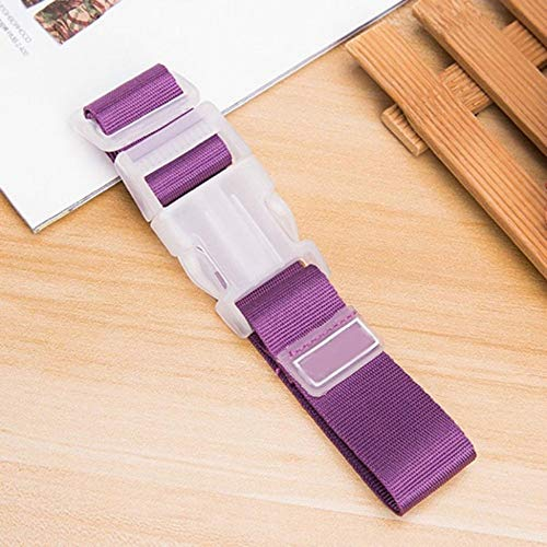 Travel Suitcase Bag Luggage Straps Buckle Baggage Tie Down Belt Lock Hooks purple - Lock Luggage Strap