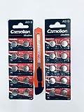 Camelion batterie alcaline a bottone LR 44AG1320pezzi 1,5V + 1Taglierino By Zimbo gratis