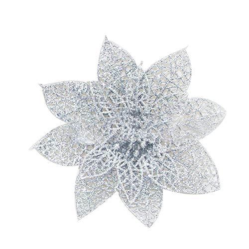 Mitlfuny Weihnachten Home TüR Dekoration 2019,10 Teile/Satz Weihnachten Blumen BäUme Weihnachtsdekor Glitter Mi Geburtstag Party 8 cm