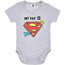 Superman Babies Boys Body bebé - Gris