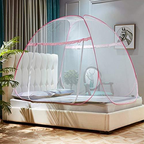 QQA Pop Up Moskitonetz for Bett Camping Baby Krippe Tragbare Bett Zelt Netze Freistehende Kinderbetten Kinder Erwachsene One Touch Reise Jurte Dome Net Faltbare for Zuhause, Outdoor