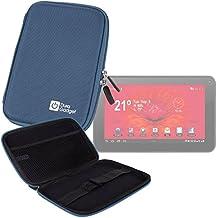 """DURAGADGET Funda Rígida Azul Para Tablet Woxter Dx 70 / Moonar Allwinner A13 9"""" - Con Bolsillo De Red En Su Interior"""