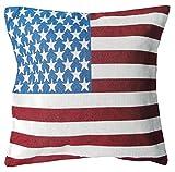 Unbekannt Kissenhülle Boxspringbett Flagge USA Vintage Retro 45x 45