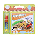 Wasser Malbuch Doodle Magisch Tragbar Zeichnungsbuch Malerei Buch mit Stift Pädagogisches Spielzeug Früherziehung Geschenk für Kleinkinder(Vehicle)