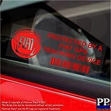 5x ppfiatgpsred GPS rojo dispositivo de seguimiento de seguridad ventana pegatinas 87x 30mm-car, Van alarma Tracker