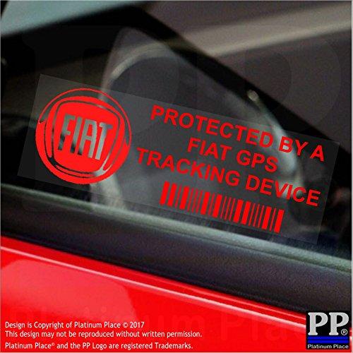 5x Ppfiatgpsred GPS rosso dispositivo di tracciamento finestra adesivi 87, x, Van allarme Tracker