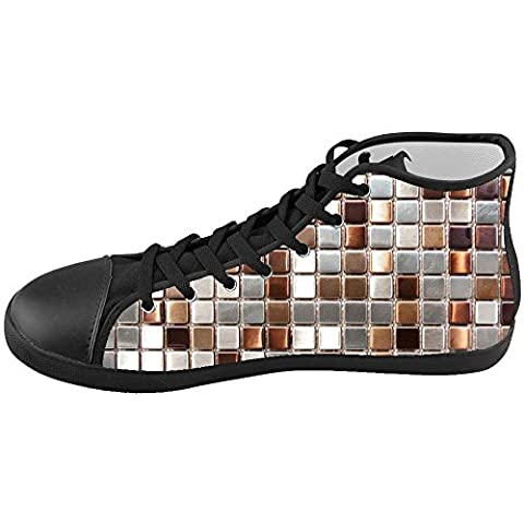 Dalliy Glass Mosaic tile texture Kids High-top Canvas Shoes Footwear Sneakers Shoes