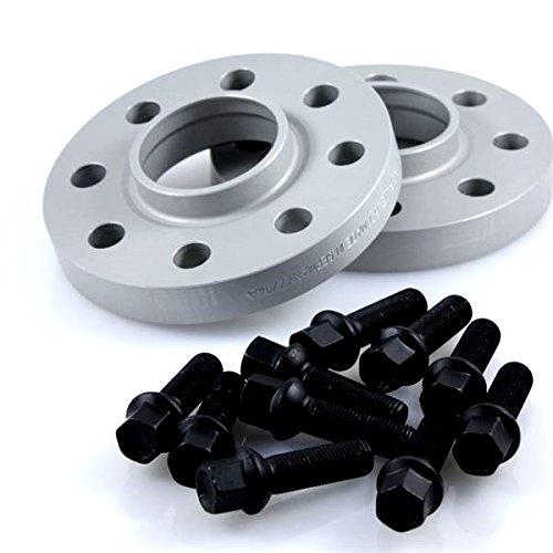 TuningHeads/Eibach .0426068.DK.SB-S90-2-12-013 Spurverbreiterung, 24 mm/Achse + schwarze Radschrauben, 24 mm/Achse
