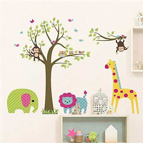 (JUNMAONO Eule Affe Giraffe Wandaufkleber/ abnehmbare Wandbild Aufkleber/Wandgemälde/Wand Poster/Wandbild Aufkleber/Wandbilder/Wandtattoo/Pinupbild/Beschriftung/Pad einfügen/Tapete/Tapezieren/Tapeten/Wand Zeitung/Wandmalerei Haftnotiz/Fühlen Sie sich frei zu kleben/Instant Aufkleber/3D-Stereo-Wandaufkleber)