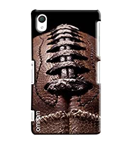 Omnam Leather Stiching Printed Designer Back Cover Case For Sony Xperia Z2
