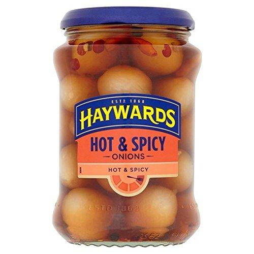 Haywards Hot & Spicy Eingelegte Zwiebeln 400G (Packung mit 4)