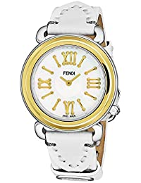 Fendi Selleria Femme 35mm Bracelet Cuir Blanc Quartz Montre F8011345H0.PS04 f45d0c696b8