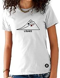 T-shirt Femme Poker Blanc - Paire de Dames Ladies